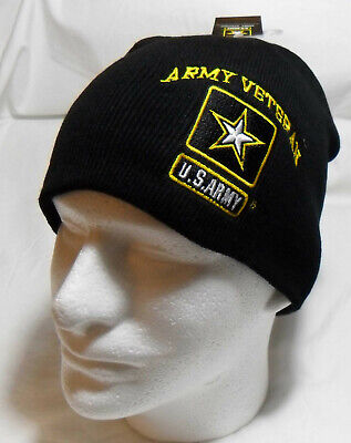 U.S. Army Veteran Watch Cap Beanie Winter Ski Hat Toboggan Officially Licensed