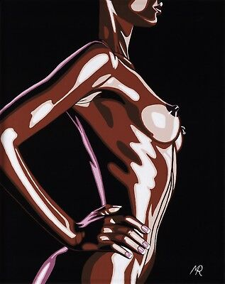 """Erotic Art Nude Original Painting on Canvas Panel 16"""" x 20"""" by Mark Roberts"""