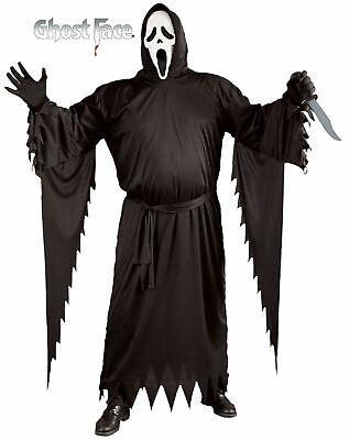 Adult Classic Scream 4 Ghost Face Costume and Mask Horror Halloween Standard - Scream Face Kostüm