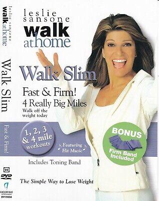 Leslie Sansone - Walk Slim 4 Really Big Miles Fast Firm (DVD, 2008, Full