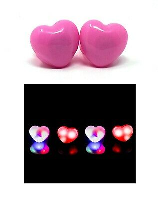 Pink Heart Flashing LED Jelly Rings Light Up Finger Glow Toy Party Bag Wholesale - Glow Rings Wholesale