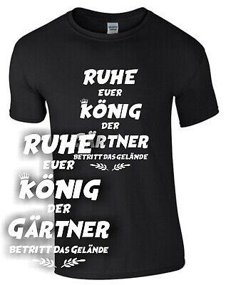König Lustig T-shirt (König Gärtner T-Shirt Geschenk Hobbygärtner Garten Spruch lustig Pflanze Samen)