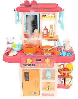 Kinderküche Spielküche Zubehör Funktion Wasserhahn Kaltdampf 42 Elemente 9569