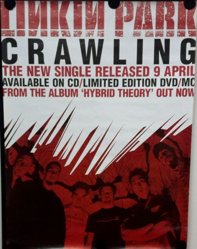 LINKIN PARK- CRAWLING. Orig.Giant Promo Poster 40x60inch. FREE INT. SHIPPING