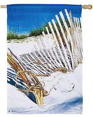 #02 SUMMER REMEMBERED SAND DUNES BEACH SHORE  HOUSE FLAG 29X43 BANNER