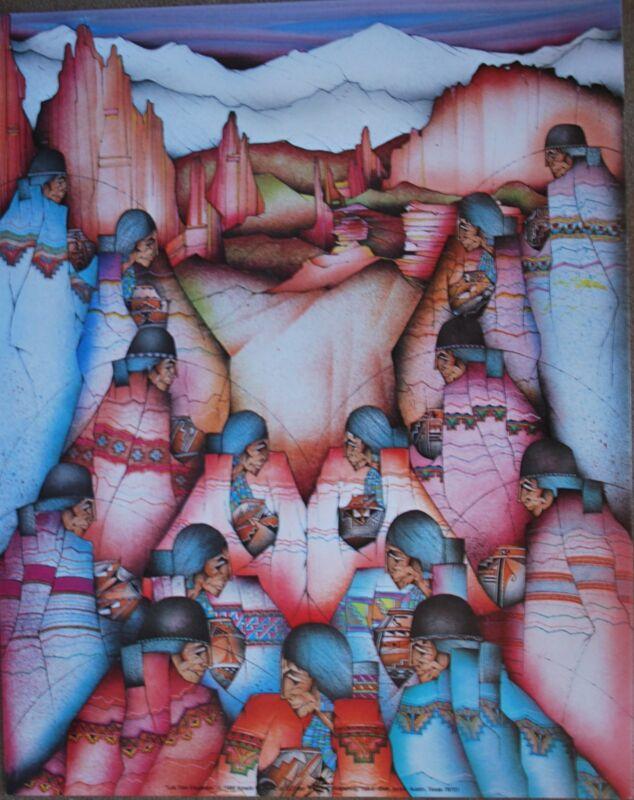 """Amado Pena Mini Prints """"LOS TRES ELEGANTES"""" 1988 (7720) UNSIGNED 8x10"""