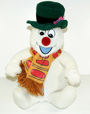 Gemmy Animated Light Up Singing Frosty the Snowman Musical Plush Christmas 12""
