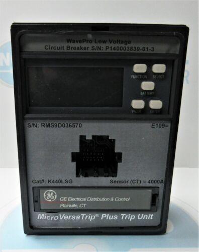 Ge Microversa Trip Plus Trip Unit K440lsg 4000 Amp Trip Unit K440lsig