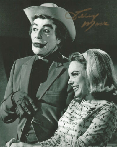 Actress Terry Moore autographed 8x10 photo with The Joker  - Bonus photo