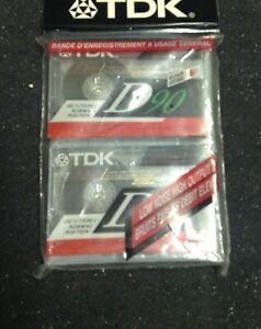 2 pack of new 90 min TDK blank Cassettes