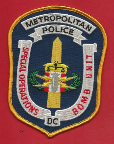 WASHINGTON DC METROPOLITAN  SPECIAL OPERATIONS BOMB UNIT  POLICE SHOULDER PATCH
