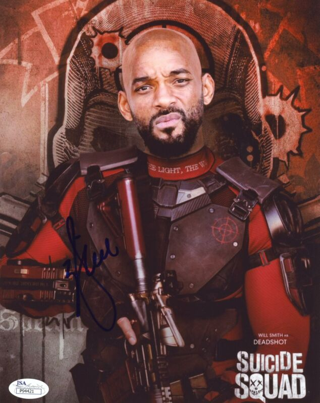 """Will Smith """"Suicide Squad"""" AUTOGRAPH Signed 8x10 Photo JSA"""