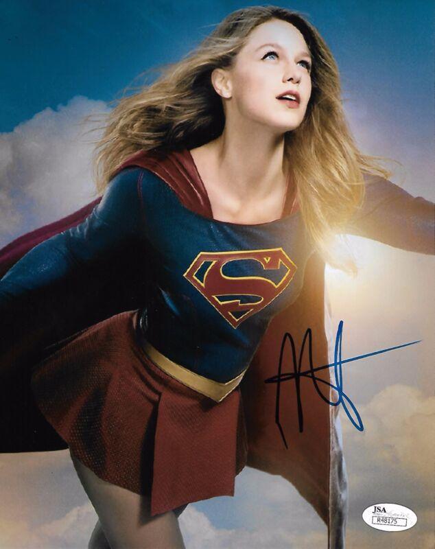 Melissa Benoist Supergirl Autographed Signed 8x10 Photo JSA COA #A9