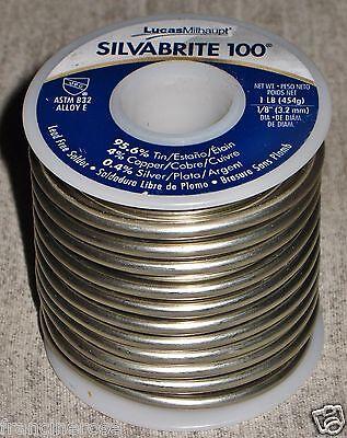 Lot Of 2 Silvabrite 100 Lead-free Solder Rolls Brand New 1 Lb. Rolls