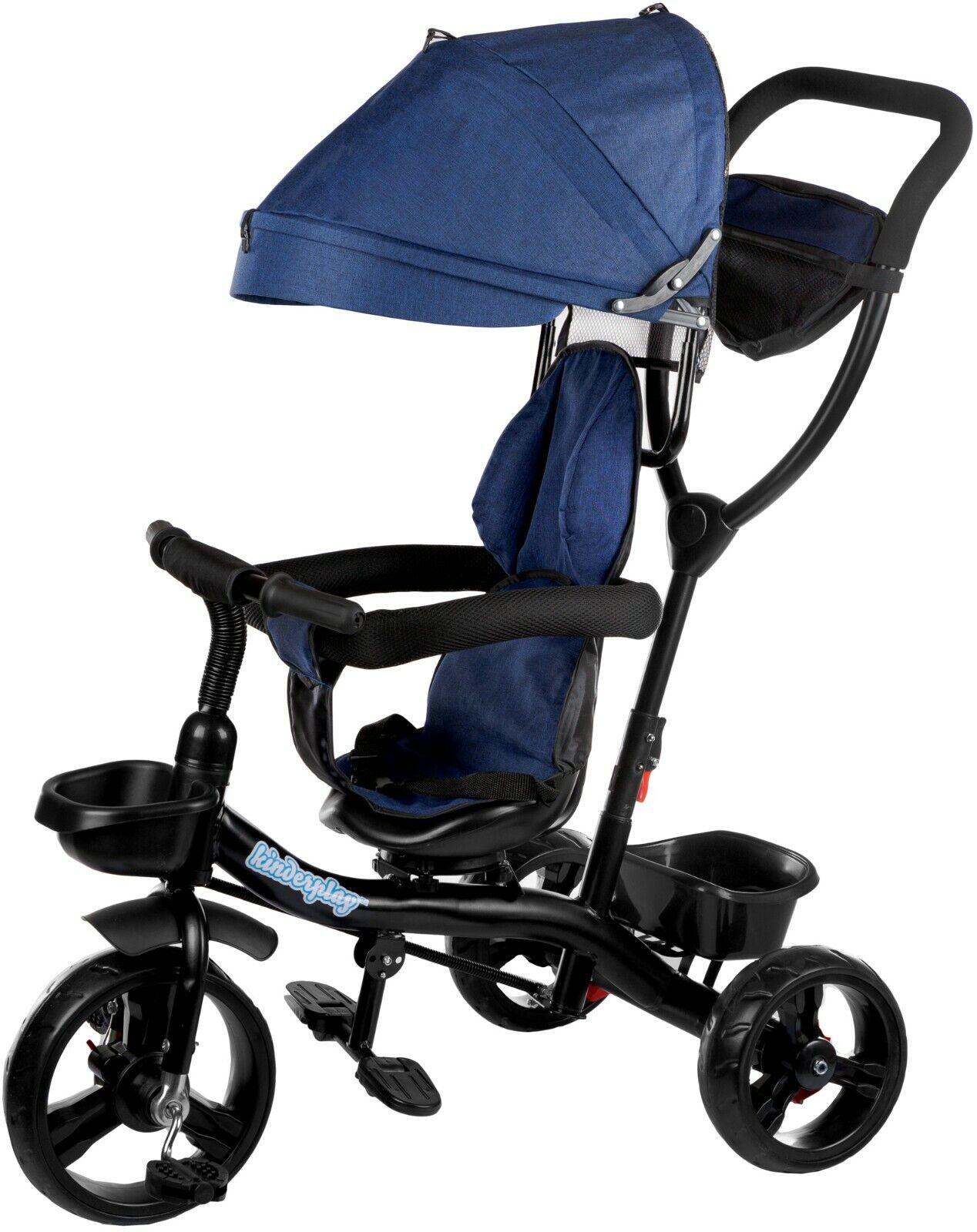 Dreirad Kinderdreirad Kinder Lenkstange Fahrrad KP0567blu Baby Kinderwagen Neu