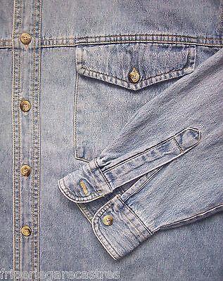 Chemise en jean enrico mori (usa), taille l   (cj_051)