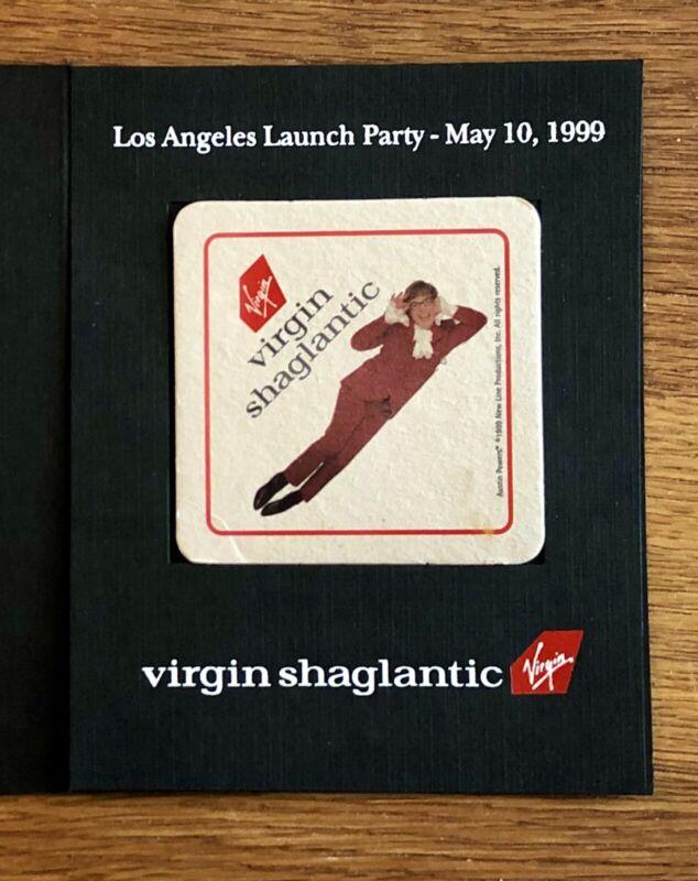 Rare Virgin Atlantic (SHAGLANTIC) Airline 1999 Promo Drinks Coaster, Collectible