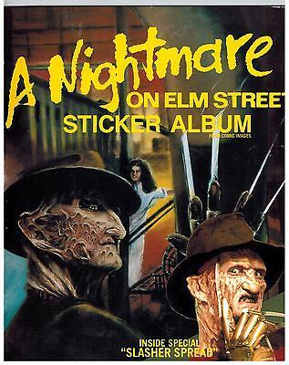 A NIGHTMARE ON ELM STREET STICKERS, UNUSED ALBUM, COMIC IMAGES FREDDY KRUGER