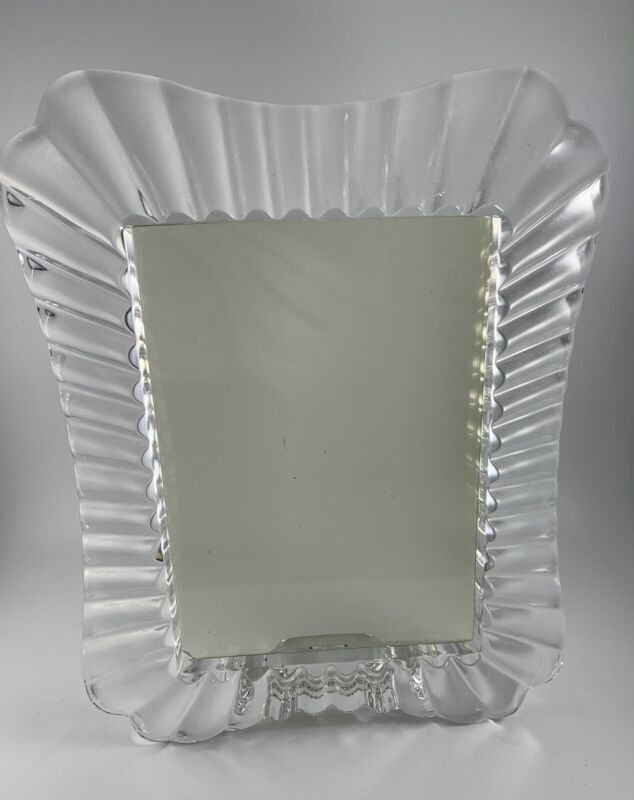 """Waterford Glass Picture Frame 9"""" x 11"""" Marquis 5x7 Photo"""