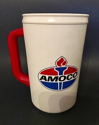 RARE Vintage Aladdin USA AMOCO Gas, Food Shop Insulated Travel Cup, Coffee Mug