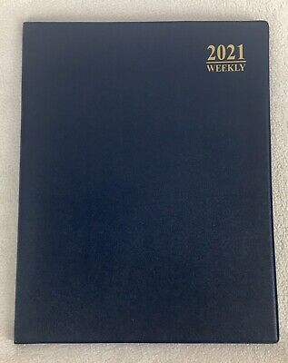 2021 Blue Weekly Day Planner Appointment Book Diary Calendar Organizer 10 X 8