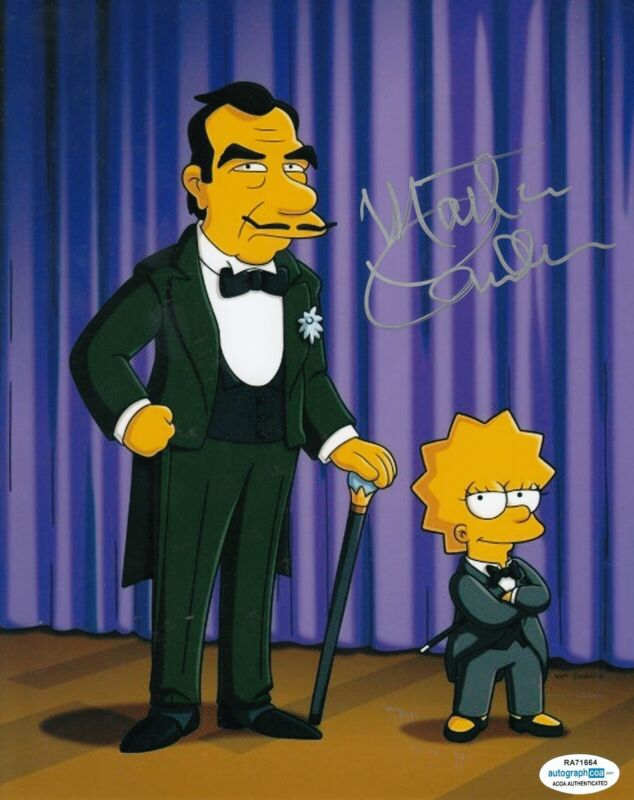 MARTIN LANDAU signed (THE SIMPSONS) TV Show 8X10 photo *Great Raymondo* ACOA #2