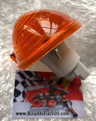 CLASSIC FIAT 500 F L R FRONT INDICATOR LAMP ASSEMBLY ORANGE AMBER LEFT=RIGHT