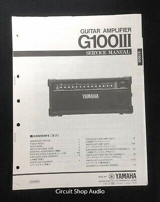 Original Yamaha / G100 III Guitar Amplifier / Service Manual for sale  Shipping to Canada