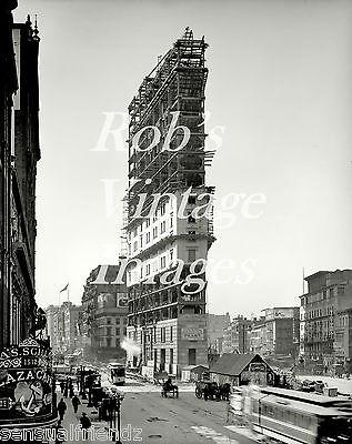 New York City Building NY Times Bldg 1900s Vintage Antique photo print