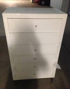NEW LINIA GLASS BOUND  6 DRAWER TALLBOY . Fairfield Fairfield Area Preview