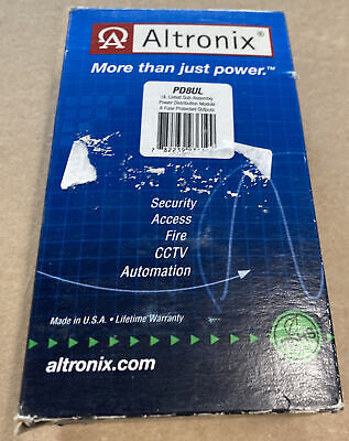 Altronix Pd8ul Power Dist Module 8 Fuse Protected Outputs
