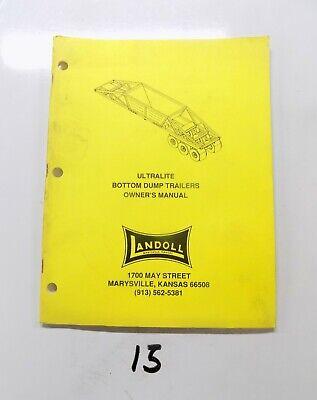 Landoll Ultralite Bottom Dump Trailer Owners Manual 492 Parts List