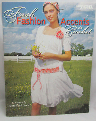 - Leisure Arts Fresh Accents to Crochet Pattern Leaflet 11 Accessories Purse Belt
