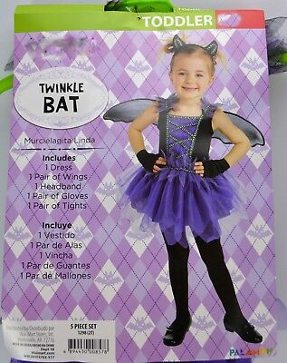 Twinkle Bat Halloween Costume, Girls Toddler 2T Wings Ballerina Tutu Tulle Dress - Toddler Bat Costume Halloween