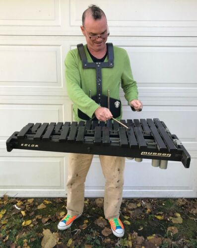 Musser Marching Xylophone, Model M-67, with Musser Carrier. 2.5 Octaves.