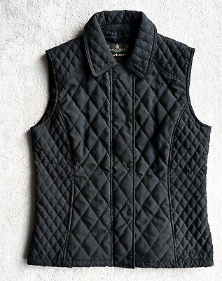 Women's BARBOUR Summer Gilet Quilted Boywarmer Vest Short jacket Size UK 12 EU38