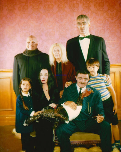 THE ADDAMS FAMILY RARE FULL CAST COLOR PHOTO
