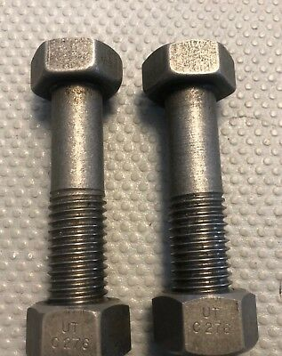 Hastelloy C276 Bolts 34 X 3.5 Lot Of 2 Bolts With Nuts.