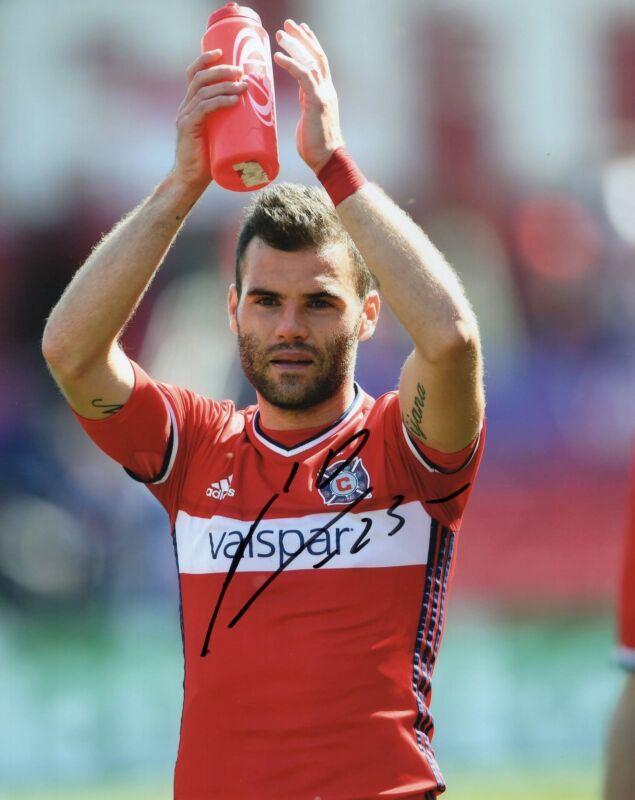 Nemanja Nikolic signed 8x10 Photo w/COA Chicago Fire MLS Soccer #1