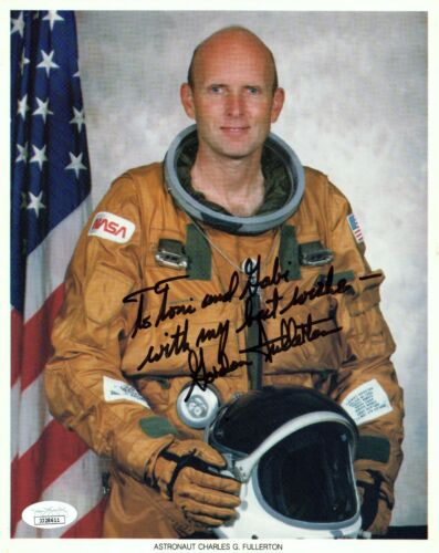 Gordon Fullerton Astronaut Signed 8x10 Photo with JSA COA