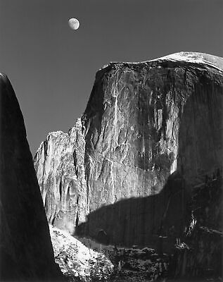 Ansel Adams Moon Over Half Dome 1960 8x10 Picture Celebrity Print ()