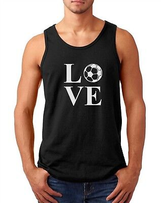 Mens Tank Top LOVE Soccer T Shirt Player Ball Lover Gift Fan Team Support Dad Soccer T-shirt Tank Top