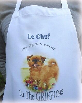 GRIFFON BRUXELLOIS DOG  APRON DESIGN KITCHEN ACCESSORY SANDRA COEN ARTIST PRINT