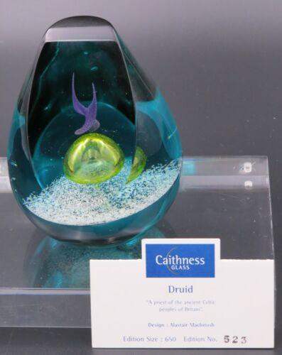 Caithness Druid Art Glass Paperweight No 523 of 650 Alastair MacIntosh