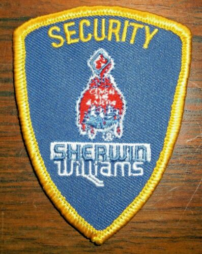 GEMSCO NOS Vintage Patch CORP - SECURITY SHERWIN WILLIAMS OH - 25+ year old