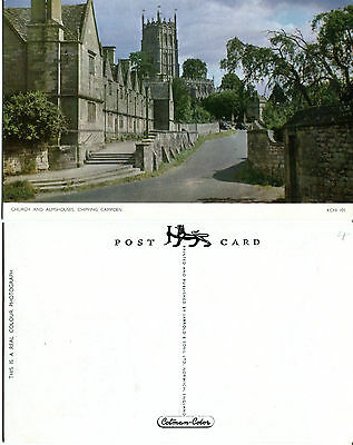 1960's CHURCH & ALMSHOUSES CHIPPING CAMPDEN GLOUCESTERSHIRE COLOUR POSTCARD