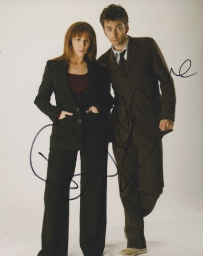 David Tennant/Catherine Tate Signed Doctor Who 10x8 Photo AFTAL