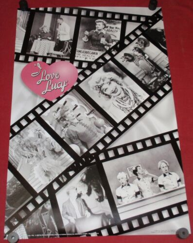I Love Lucy Poster 22 x 34 Lucille Ball Television series star Film  Collage S/S