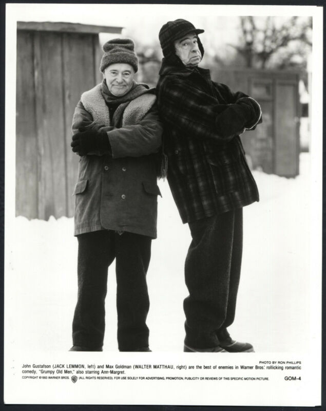 Grumpy Old Men '93 JACK LEMMON WALTER MATTHAU CROSSED ARMS
