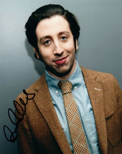 Simon Helberg Signed Autographed 8x10 Photo Howard The Big Bang Theory COA VD